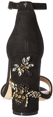 Sam Edelman Womens Yaro 2 Dress Sandal Black Jeweled Suede