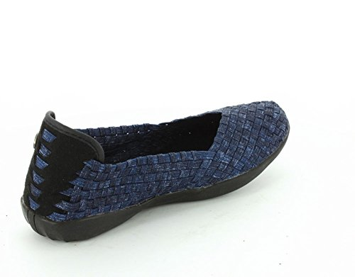 Bernie Mev Women's Braided Catwalk Flat Jeans wy7nilKWDC