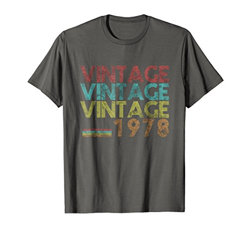 Vintage 1978- 40 Years Old 40th Birthday 70s Gift T-shirt