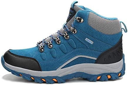 男性と女性の高い屋外ハイキングシューズ、防水と防風のマウンテンロードバイクブーツ、カジュアルなハイトップ滑り止めハイキングハイキングブーツ、屋外旅行、登山ZDDAB