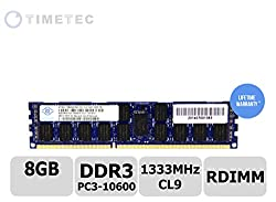 Timetec Nanya NT8GC72C4NGONL-CG DDR3L 1333MHz (PC3-10600) Registered ECC 1.35V CL9 2Rx4 512x4 Dual Rank 240-Pin RDIMM Server Memory Module Upgrade (8GB)