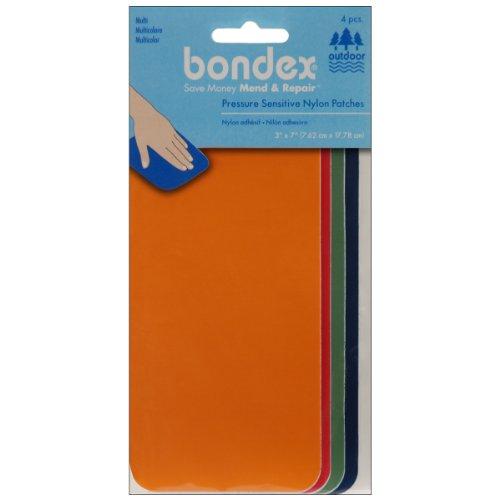 nylon-repair-fabric-3x7-4-pkg-orange-red-green-royal