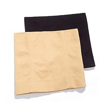 LZYMSZ 2PCS Postpartum Corset,Recovery Belly Wrap Girdle Support Band,No Trace Waist Shapewear Cincher for Women Weight Loss Tummy Control (XL/XXL) Beige, Black