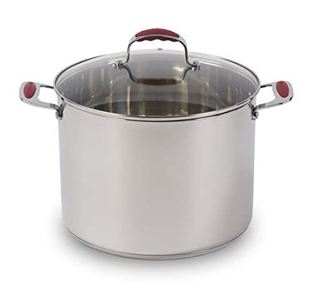 Amazon.com: David Burke 8QT / 12QT Stainless Steel Stock Pots ...