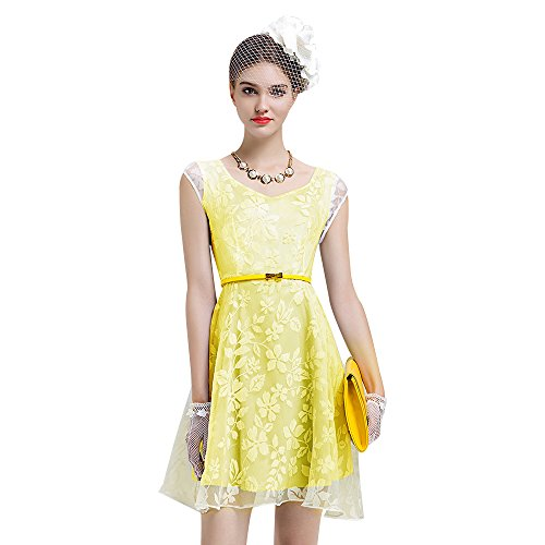 Printed Women's BIRRYSHOP Yellow Floral Dress q44KPYy