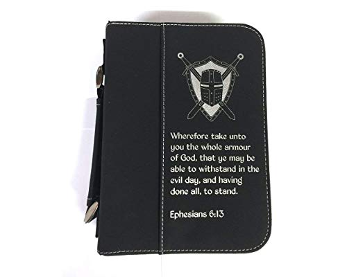 Armor of God Black Bible Cover - Size Small - Imitation Leather