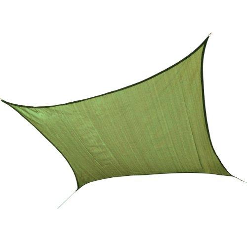 (ShelterLogic 25677 Sail Heavyweight 16 x 16 ft. Square Lime Green Sun Shade, 16' x 16',)