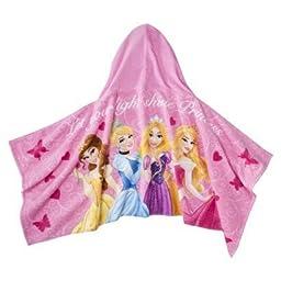 Disney Princess Hooded Towel - Cinderella, Belle, Aurora and Rapunzel