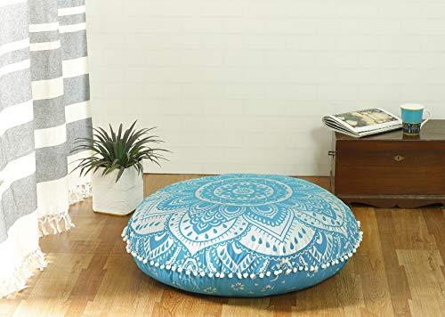 Popular Handicrafts Large Hippie Mandala Floor Pillow-Cushion-Pouf Cover Round Bohemian Yoga Decor Floor Cushion Case- 32