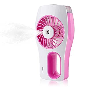 iEGrow Handheld USB Mini Misting Fan with Personal Cooling Humidifier(Pink)