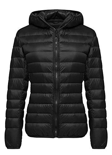Aixy Womens Ultra Light Weight Packable Hooded Down Jacket Short Puffer Coats(XS-XL)