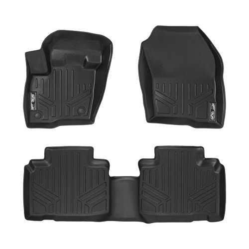 MAXFLOORMAT Floor Mats for Ford Edge (2015-2017) Complete Set (Black)