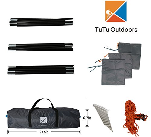 TuTu Outdoor Easy Up Canopy Tent with Sand Bags - Super Big Sun Shade Tarp and Lightweight Beach ...  sc 1 st  Hiking Gear Store & Outdoor Easy Up Canopy Tent with Sand Bags - Super Big Sun Shade ...