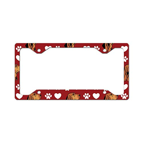 Style In Print Custom License Plate Frame Bruno Jura Hound Dog Red Aluminum Cute Car Accessories Narrow Top Design Only One Frame