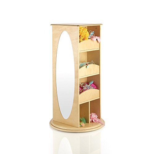 Guidecraft Rotating Dress Up Storage Natural G99302