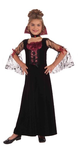 Evil Vampire Queen Costumes (Forum Novelties Miss Vampire Child's Costume, Medium)