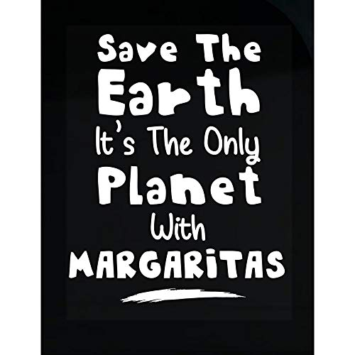 Planet Margarita - MESS Earth The Only Planet with Margaritas - Transparent Sticker