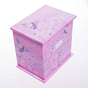 Personalised Wooden Girls LARGE PURPLE FAIRY Musical Jewellery Box Gift For ChristmasFlower GirlChristeningBirthday 1392