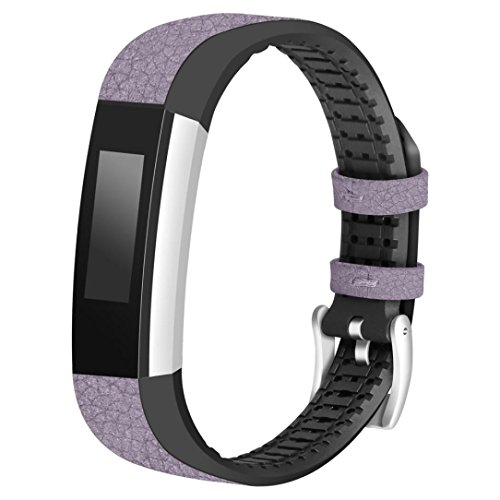 Price comparison product image Boofab Fitbit Alta Bands,  Fitbit Alta HR Accessory Replacement Band Small / Large Watch Band for Fitbit Alta and Fitbit Alta HR Smartwatch Fitness Wristbands (Purple)