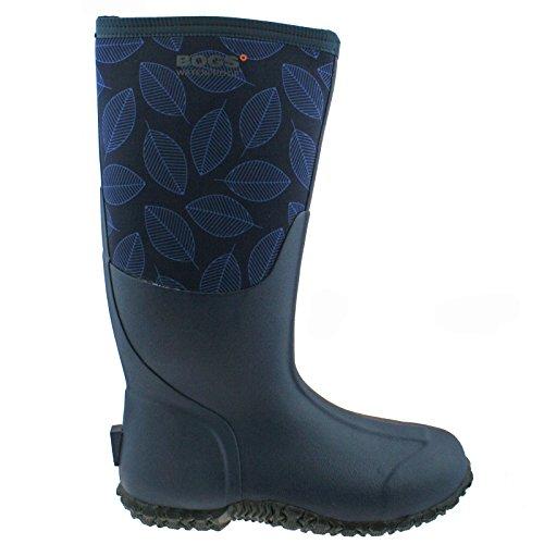 Tall Leafy Rubber Carver Womens Boots Bogs Blue RwqEzUTT