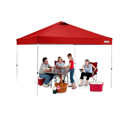 First Up Gazebo Tent Canopy,10 x 10-Feet, Red