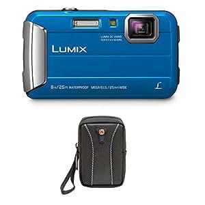 Panasonic DMC-TS30A LUMIX Active Lifestyle Tough Camera (Blue) + Swiss Gear Case