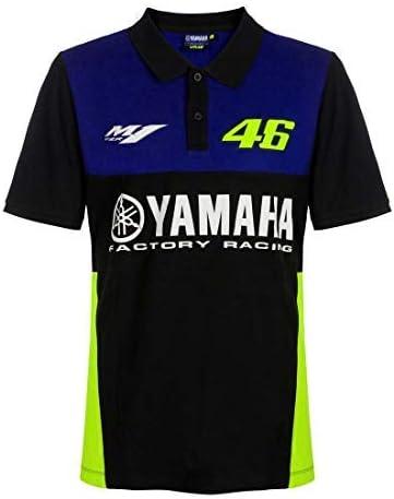 VR46 Officiel Valentino Rossi Femmes Yamaha Course D/ébardeur Noir L Bleu//Noir