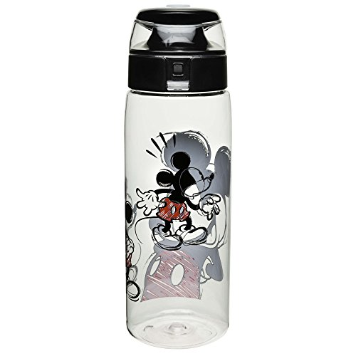 Mickey Mouse Water Bottle (Zak Designs Mickey & Minnie Mouse 25 oz. BPA-Free Wide Mouth Bottle, Mickey Mouse)