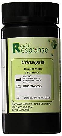 Rapid Response 1 Para (Ketone) Urinalysis Reagent Test Strips, 100 Strips/Bottle