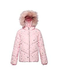 Rokka&Rolla Girls' Heavy Padded Water-Resistant Hooded Thickened Quilted Puffer Jacket