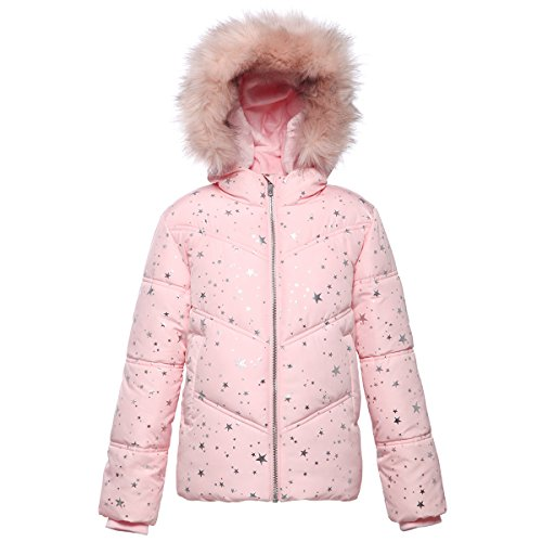 Rokka&Rolla Girls' Heavy Padded Water-Resistant Hooded Thickened Quilted Puffer Jacket -