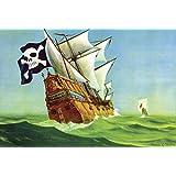 ArtParisienne Pirate Chase Anton K. Skillin 16x24-inch Wall Decal