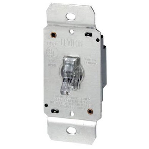 Leviton 6691 600W Incandescent Toggle Dimmer, Single Pole, Clear (Tog Dimmer)