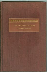 Hardcover The Sir Roger De Coverley Papers / by Jjoseph Addison, Richard Steele and Eustace Budgell Book