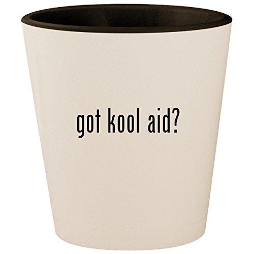 (got kool aid? - White Outer & Black Inner Ceramic 1.5oz Shot Glass)