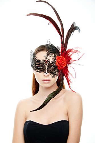 (Montmartre Masquerade Mask (Red/Black; Unisex One Size))