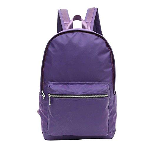 Hombres Y Mujeres Impermeable Bolso De Hombro Casual Moda Nylon Al Aire Libre Mochila Purple