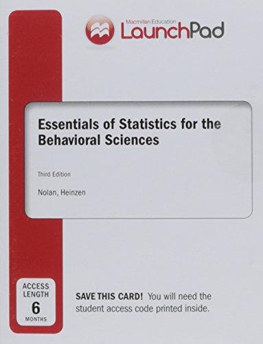 Essentials Of Stat.F/Behav... Launchpad
