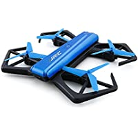 BTG JJRC H43WH BLUE CRAB Foldable WIFI FPV RC Quadcopter with 720P HD Camera - Gravity Sense Control, Altitude Hold, Selfie Beauty Mode, Headless Mode