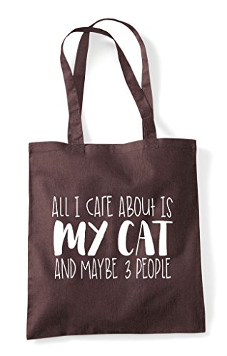 Cat Is Care Brown Shopper And Tote Cute Animal Three About I Bag Themed All My Funny People Maybe tCH5qXXw