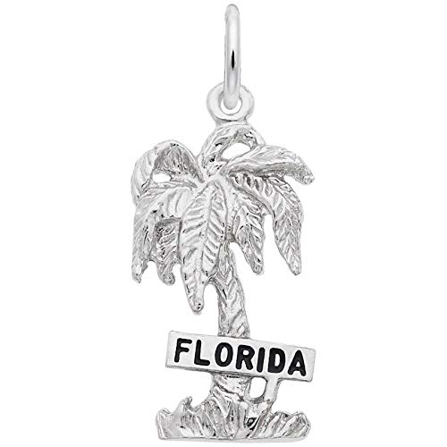 Rembrandt Charms Florida Charm, 14K White Gold