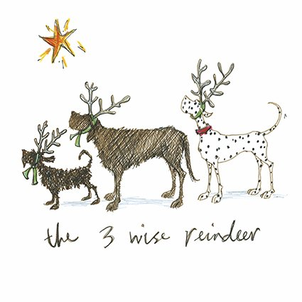The 3 wise reindeer sam toft open christmas card xst1075 the 3 wise reindeer sam toft open christmas card xst1075 amazon office products m4hsunfo