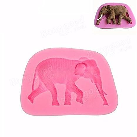 Big Bazaar Bazaar Molde de jabón del molde de la pasta de silicona de la forma del elefante 3D: Amazon.es: Hogar