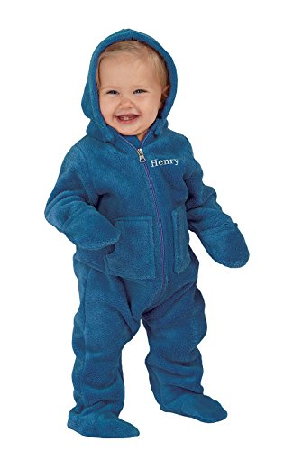 PajamaGram Infant Hoodie Footie Fleece Pajamas product image