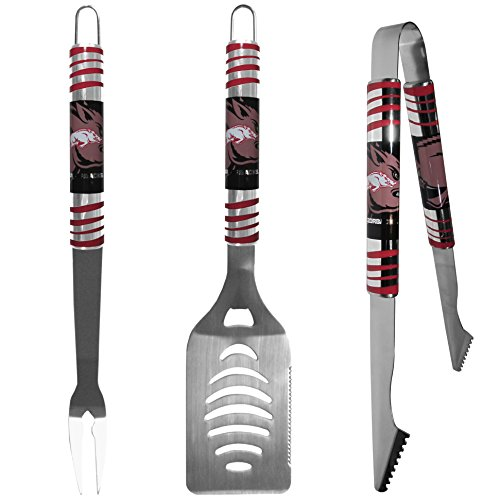 (NCAA Arkansas Razorbacks Tailgater BBQ Set (3 Piece),)