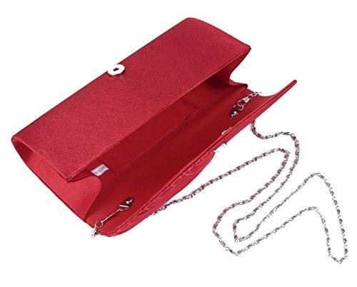 En Soiree Pochette Finette party Sac ceremonies Cloud Mariage Rouge Pour Main A De Qualite 27×11×5cm Haute Portefeuille y YxPYHFXv