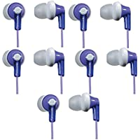 Panasonic ErgoFitIn-Ear Earbud Headphones RP-HJE120 (5-Pack, Purple)