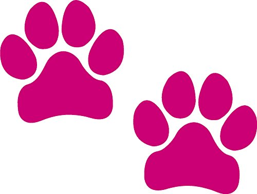 Paw Prints, PINK, I Make Decals™, Pawprints, Paws, Dog, Puppy, Pup, Mutt, Canine, Print, Car, Auto, Wall, Locker, Laptop, Ipad, Notebook, Netbook, Vinyl, Sticker, Decal, Label, Placard, PINK