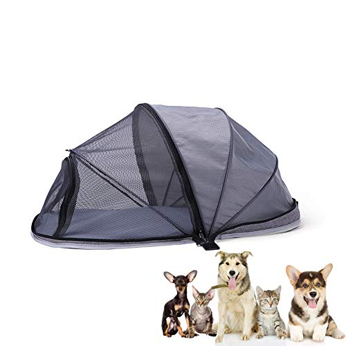 Hillwest Dog Houses Dog Tent, Foldable Portable Outdoor Camping Domed Dog House, Comfortable Shelter Travel Pet Bed…