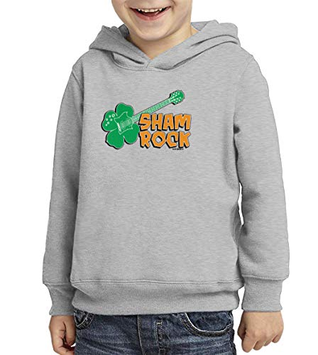 Sham Rock - Shamrock St. Patrick's Day Toddler/Youth Fleece Hoodie (Light Gray, X-Small (Youth))